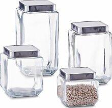 Zeller Present Vorratsglas, (4 tlg.) B/H/L: 11 cm