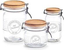 Zeller Present Vorratsglas, Holz, Glas, Metall,