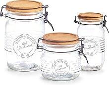 Zeller Present Vorratsglas, (Set, 3 tlg.) H: 11,2