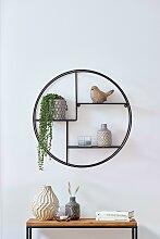 Zeller Present Wandregal B/H/T: 55 cm x 12 schwarz