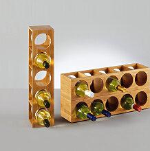 Zeller Present Weinregal Bamboo, für bis zu 5