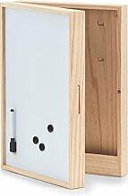Zeller Schlüssel-/Memo-Box m. Whiteboard, Holz