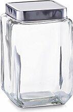 Zeller Vorratsglas mit Edelstahtdeckel 11x11x18cm