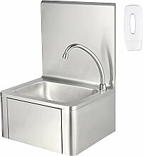ZELSIUS Edelstahl Handwaschbecken mit