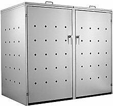 Zelsius Edelstahl Mülltonnenbox für 2