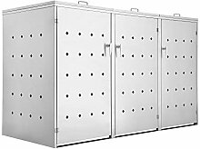Zelsius Edelstahl Mülltonnenbox Rhombus für 3