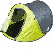 Zelt 2 Personen grün Festival Zelt 245x145x95cm Wurfzelt Pop Up Igluzelt Camping