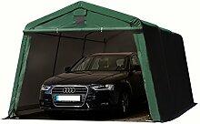Zeltgarage 3,3x4,8 m Weidezelt PREMIUM Carport mit 500 g/m2 PVC Plane in dunkelgrün Unterstand Lagerzelt Garage aus 100% Stahl