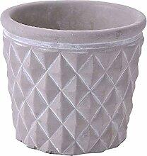 Zement Blumentopf, Indoor/Draußen Wasseraufnahme