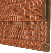 ZEMIN Bambusrollo Jalousette Rolltor Vorhang Schattierung Innen-/Außeninstallation Fenster Sonnen Bildschirm Balkon Dauerhaft Handhebend, Bambus (Farbe : A, Größe : 100x180CM)