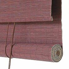 ZEMIN Rolltor Bambusrollo Jalousette Vorhang Schattierung Innen/Außen Installieren Fenster Sonnen Bildschirm Büro Klare Sicht Handhebend, Bambus (Farbe : A, Größe : 120x150cm)