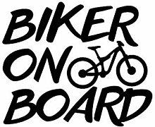 Zemn Wandaufkleber 12 * 10 cm Biker An Bord Vinyl