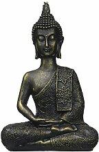 zen' Light Thai Buddha-Figur, Harz, Bronze,