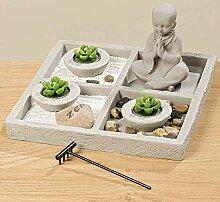 Zen Garten Jimal 8tlg H13cm Material: Beton