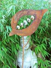 Zen Gartenstecker Beetstecker rost 120cm