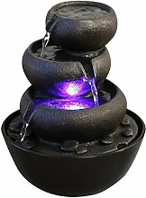 Zen Light Jarre Brunnen Polyresin schwarz 18x