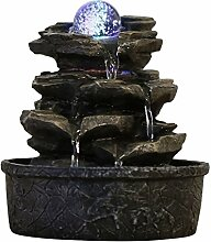 Zen Light Little Rock Brunnen aus Polyresin,