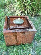 Zen Man Cortenstahl Garten Brunnen 20 * 20 * 20cm