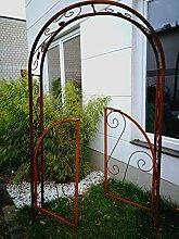 Zen Man Edelrost Garten Rosenbogen Rost Metall