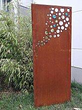 Zen Man Edelrost Garten Sichtschutz aus Metall