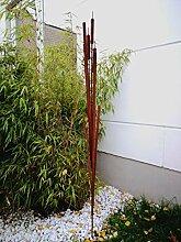 Zen Man Edelrost Gartenstecker Rost aus Metall