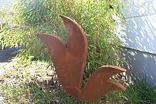 Zen Man Edelrost Gartenstecker Rost Gartenskulptur