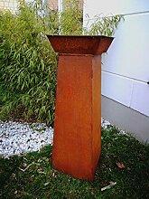 Zen Man Garten Edelrost Feuerschale Pflanzschale