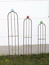 Zen Man Garten edelrost Rankgitter Metall Rost