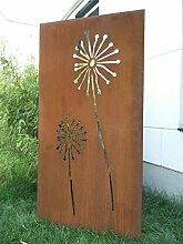 Zen Man Garten Sichtschutz aus Metall Rost