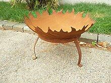 Zen Man Garteninspiration Feuerschale mit Dreibein