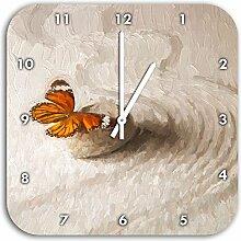 Zen Schmetterling Kunst Pinsel Effekt, Wanduhr