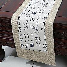 Zen Tea Tuch/Garten-Tee-Vorhang/Tee-pads/Tischl?ufer / Tischfahne-B 33x300cm(13x118inch)