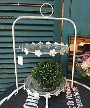 ZENGAI Blumenständer Iron Flower Pot Rack Dessert Retro Support Bassin Rahmen Mehrstöckige Regale Flower Bracket Pflanzentreppe ( größe : 30*23*45cm )