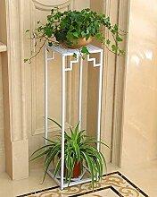 ZENGAI Blumentopf Regal, Blütenständer, Pflanze Stand Eisen Blumenrahmen Boden - Stil Multi - Storey Töpfe Indoor und Outdoor Hanging Orchideen Regal ( Farbe : B , größe : 79*24cm )