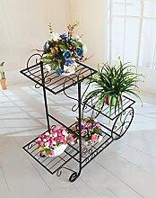 ZENGAI Europäische Blumenregale Eisen Multilayer Blumenregale Balkon Wohnzimmer Hängende Orchideen Töpfe ( Farbe : B )