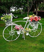 ZENGAI Flower Rack Kreativ Multi - Storey Bike Blumenrahmen Schmiedeeisen Hochzeit Requisiten Fenster Blumen Shop Dekoration