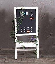 ZENGAI Tafel-Blumen-Standplatz-hölzerner faltender Blumentopf-Zahnstange-Dekoration-Kalender-Anzeigen-Standplatz Weißes Regal-Innenbonsais-Feld 52 * 115cm