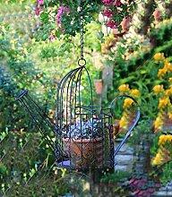 ZENGAI Wand-Blumentöpfe Home Garten-Dekoration-Blumen-Zahnstange tun das alte hängende Eisenkessel-Blumen-Korb Kreative Gartenarbeit Verschiedene Regale ( Farbe : B , größe : 40*39CM )