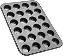 Zenker Muffinplatten Black Metallic 24er