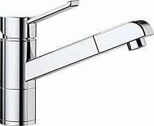 ZENOS-S, Küchenarmatur, metallische Oberfläche,