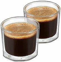 ZENS Espresso Kaffeetassen aus Glas ,130ml