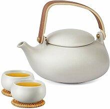 Zens Teekanne Keramik Tassen Set mit