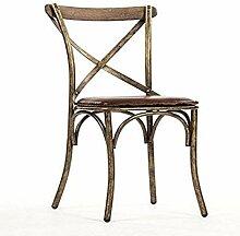 Zentique Manos Stuhl Leder antik braun