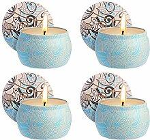 Zeonetak Citronella Kerzen Duftkerzen, 4 Stück
