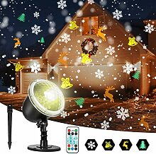Zeonetak LED Projektor Weihnachten Innen Aussen,