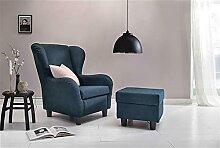 ZeoTioo Bequemer TV Relax-Sessel Mit Sitzhocker