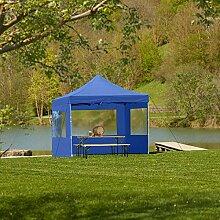 ZeoTioo Falt Pavillon Klapp Zelt 3x3m Festzelt