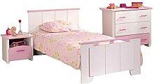ZeoTioo Kinderzimmer 3-tlg Kinderbett Kommode