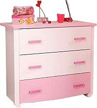 ZeoTioo Kommode weiß rosa Mädchen Kinderzimmer
