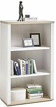 ZeoTioo Landhaus Regal Bücherregal Büroregal